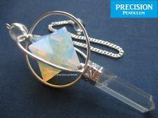 Opal Spinning Merkaba Star Crystal Precision Pendulum Healing Gemstone
