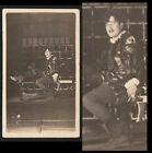 """COCKY LEATHER BOOTS """"PROTEUS"""" SHAKESPEARE COSTUME MAN ~ 1910s VINTAGE PHOTO gay"""