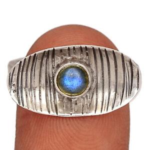 Labradorite - Madagascar 925 Silver Ring Jewelry s.7 BR48071 233I
