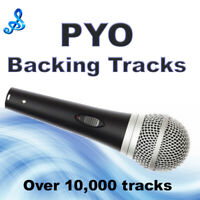 PYO Backing Tracks on CD x5 Vocalists Entertainers, Talent Shows, Auditions,