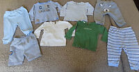 Baby boy bundle trousers and tops 8 psc. size 3-6 months