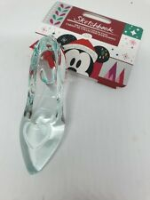 Disney Store Cinderella Glass Slipper Christmas Hanging Ornament 100% Authentic