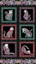"Cats fabric Panel Cat it tude Cotton Quilting Fabric Panel 24"" x 44"" Benartex"