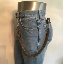 Coyote Brown 3 Pin Weave Handcrafted 550 USA Made Paracord Biker Wallet Chain 1%