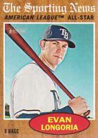 2011 Topps Heritage #468 Evan Longoria AL AS SP Tampa Bay Rays