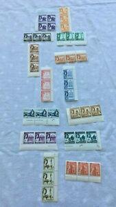 Job Lot x 43 Malta Pre-Decimal Mint Unused Stamps QEII Strips Blocks S462