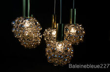 Vintage Mid 20th c Modern Bubble Glass Chandelier 5 Lamps Design Tynell Limburg