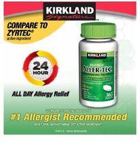 Kirkland Aller-Tec Cetirizine HCL 10 mg/Antihistamine 365 Tablets NEW Ships Free