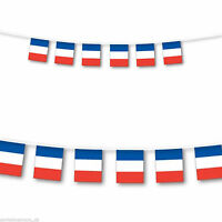 10M France Bunting French 6 Six nations Rugby Football Banner Flags 33ft