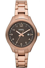 FOSSIL AM4366,Ladies Dress,Rose Tone,BRAND NEW WITH TAG AND FOSSIL BOX