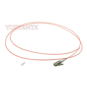 50Pcs 1.5M 50/125 OM2 LC UPC MultiMode Simplex 0.9mm Fiber Optical Pigtail Cable