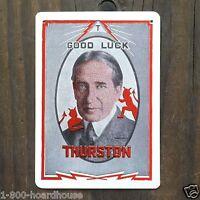 Original 1920s THURSTON THE MAGICIAN Jane Throw Out Magic Card GOOD LUCK NOS