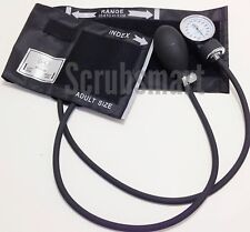 BLACK Deluxe Aneroid Sphygmomanometer Blood Pressure BP Adult cuff EMI EBD-217B