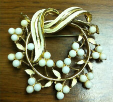 """Gold Tone Flower Pin - 2.25"""""""