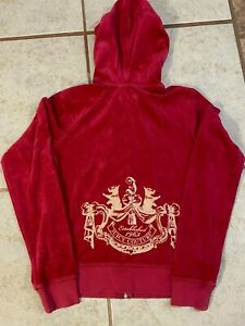 juicy couture magenta tracksuit pants & hooded top Size M