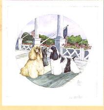 New listing American Cocker Spaniel Flag Limited Edition Art Print Barbara Hands Boz Last