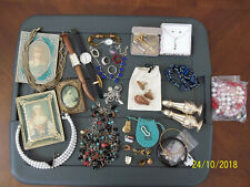 New listing Not so Junk Drawer ~Jewelry ~Old Mini Portraits~Silver~Must See Photos!