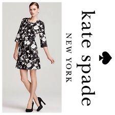 KATE SPADE Florence Broadhurst Black White Floral DOROTHY Shift Dress sz 0 $398