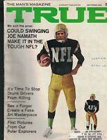 True Magazine September 1968 Joe Namath Drunk Drivers Victor Louis