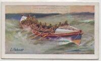 Lifeboat Rescue Ocean Sea Rowing Craft 85+ Y/O Trade Ad Card