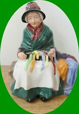 Royal Doulton Silks And Ribbons Old Lady Figurine - Hn 2017