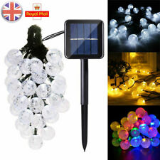 UK 30 LED Solar Garden Lights String Fairy Colorful Globe Ball Weatherproof Lamp