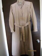 Rain Ramblers ~ Tan Long Raincoat ~ Trenchcoat Style ~ Size 16