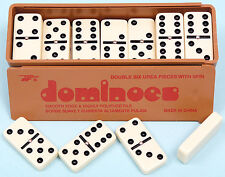 Double Six Plastic Dominoes - With Spinners - Ref: 00121