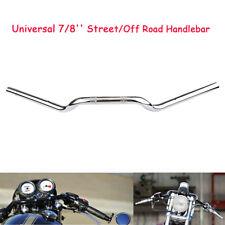 """7/8"""" 22mm Handlebars Drag Bar Chrome  For Triumph Harley KTM Touring Bobber"""