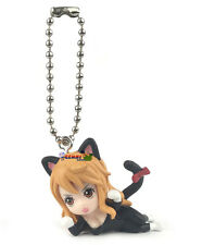 One Piece Cat Suit Nyan Mascot PVC SD Figure Cat Burglar ~ Nami Keychain @10998