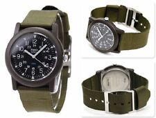 Nylon Strap Adult Square Wristwatches