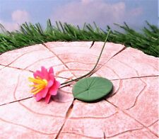 Miniature Dollhouse Fairy Garden Pink Water Lily - Buy 3 Save $5