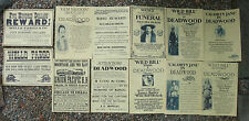 DEADWOOD WILD BILL HICKOK, Wells Fargo  WEST POSTERS  Novelty SET H