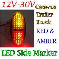 Red/Amber 4 Led Side Marker Tail Light Lamp Clearance Trailer Truck 12V 24V