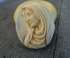 RELIGIOUS MARY cameo silicone push mold mould polymer clay resin Sugar craft wax