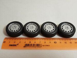 Part 1/18 Mercedes Tuning Wheels Rims (Rubber, Plastic) 4 pcs