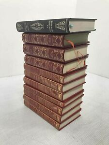 Lot Of 11 Leather Bound French Language Classic Books Madame Bovary Human Comedy