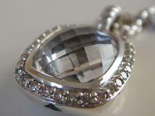 $1250 DAVID YURMAN , SS NOBLESSE CLEAR TOPAZ DIAMOND ICE NECKLACE