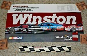 NASCAR 1988 WINSTON TALLADEGA 500 POSTER 30L x 17W INCLUDES PROMO MAIL TUBE RARE