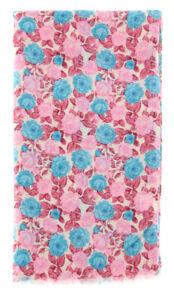 "New $400 Luigi Borrelli Pink Floral Long Scarf - 26"" x 76"" - (FI120343)"