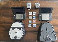 Two Nintendo 3DS XL Handheld Consoles - Blue/Black (SPR-S-BKAB-USZ)