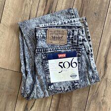 Vintage 1989 USA Levi's 506 Jeans Men's 31 x 34 tag Acid Blizzard Washed NWT
