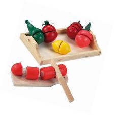 Happy People 45007 Holztablett mit Holzobst und Gemüse Kinder Spielzeug