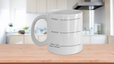 Funny Coffee Mug Wake Up Need Caffeine Unique GIft for Friend Loved One Anytime