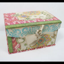 "Kate McRostie Floral Print Paper Board Storage Box, Bow Accent, 8"" x 5.5"" x 4.5"""