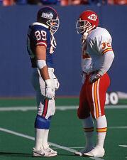 New York Giants MARK BAVARO Kansas City Chiefs Larry Moriarty Glossy 8x10 Photo