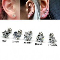 Zircon Cartilage Earring Stud Ear Tragus Helix Stud Upper Ear Piercing Jewelry