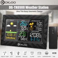 Digoo LCD Alba/Tramonto Metereologica Stazione Meteo Temperatura Umidità Sveglie