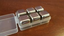 6 pcs Stainless Steel Ice Cube Set for Johnny Walker Macallan Whisky Stones