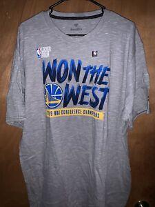 """2XL Fanatics Golden State Warriors """"won the west"""" T Shirt"""